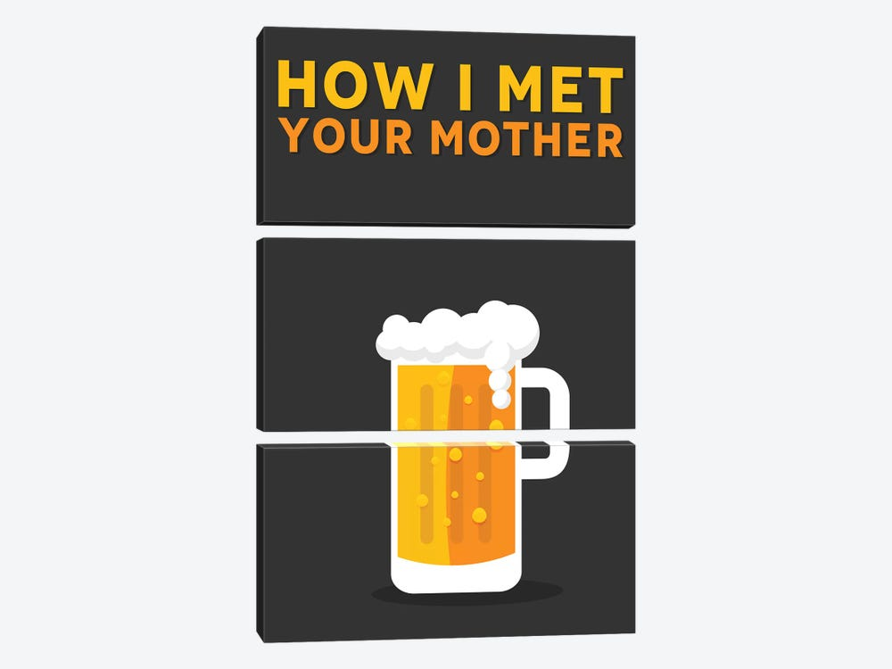 How I Met Your Mother Minimalist Poster by Popate 3-piece Canvas Artwork