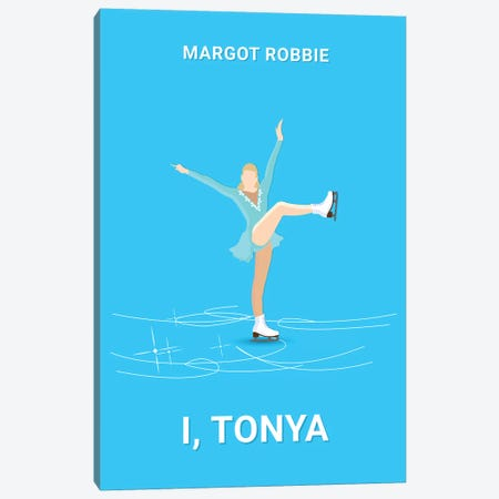 I, Tonya Minimalist Poster Canvas Print #PTE36} by Popate Canvas Artwork