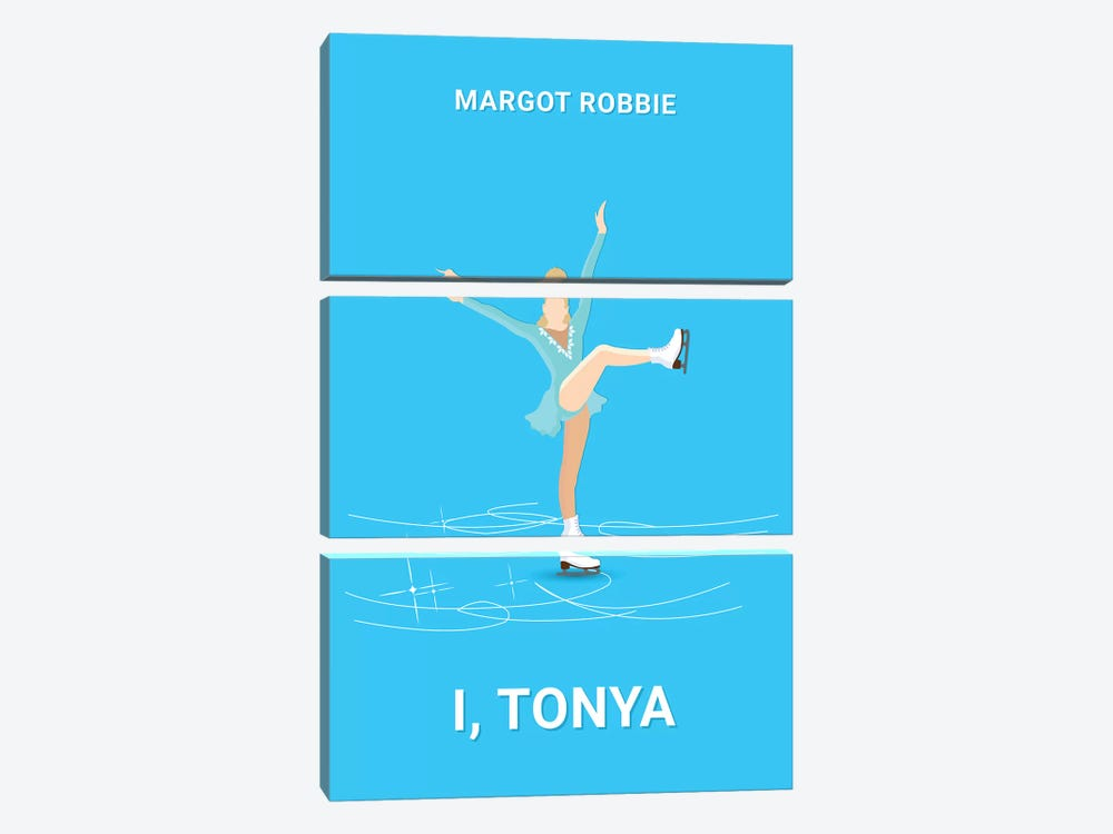 I, Tonya Minimalist Poster by Popate 3-piece Canvas Art Print