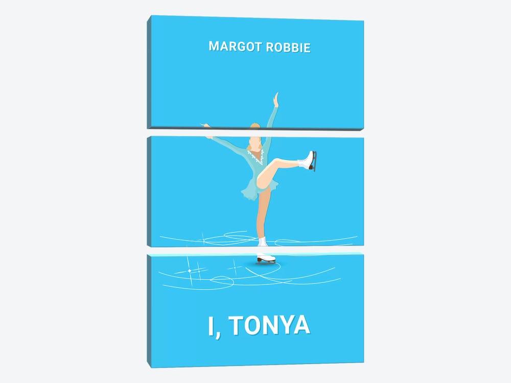 I, Tonya Minimalist Poster by Popate 3-piece Canvas Art Print
