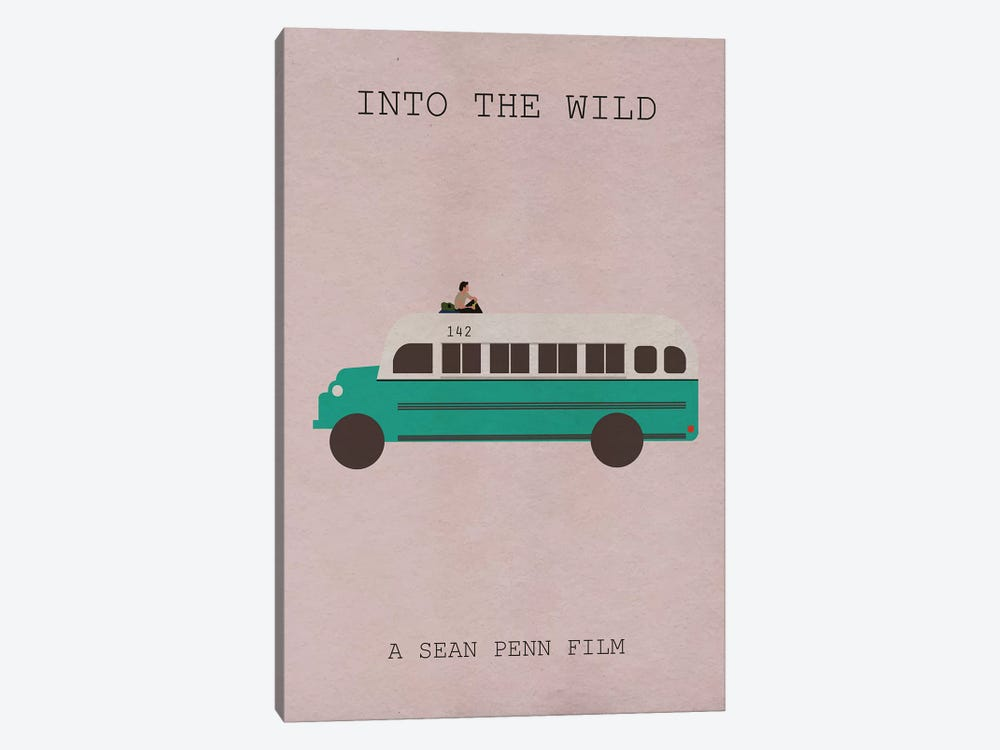 Into The Wild Minimalist Poster 1-piece Canvas Wall Art