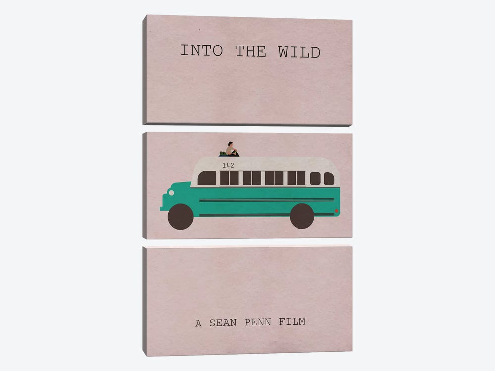 Into The Wild Minimalist Poster 3-piece Canvas Art