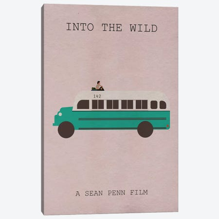 Into The Wild Minimalist Poster 3-Piece Canvas #PTE37} by Popate Canvas Wall Art