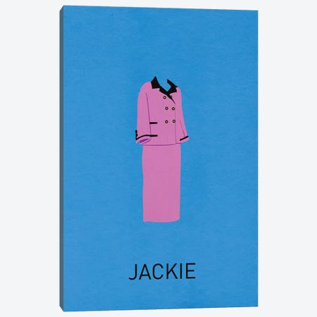 Jackie Minimalist Poster Canvas Print #PTE38} by Popate Art Print