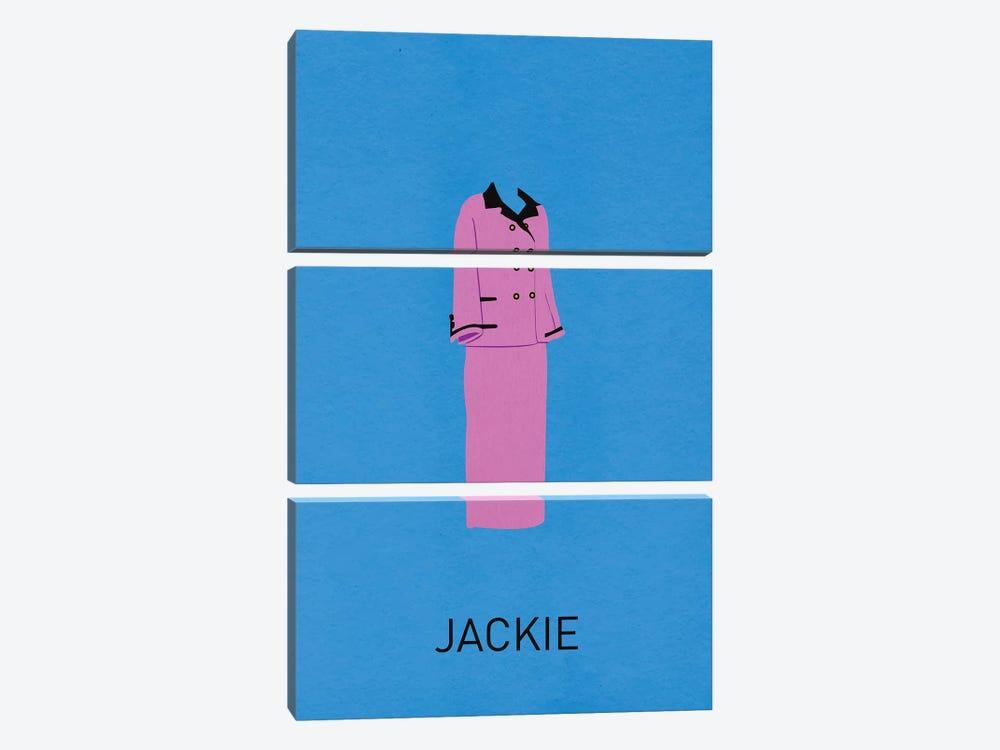 Jackie Minimalist Poster by Popate 3-piece Canvas Print