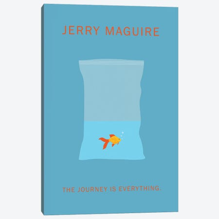 Jerry Maguire Minimalist Poster Canvas Print #PTE39} by Popate Art Print