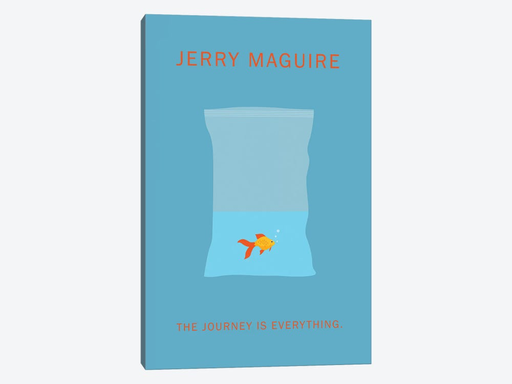 Jerry Maguire Minimalist Poster by Popate 1-piece Canvas Artwork