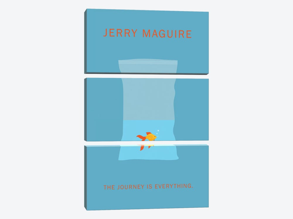 Jerry Maguire Minimalist Poster by Popate 3-piece Canvas Wall Art