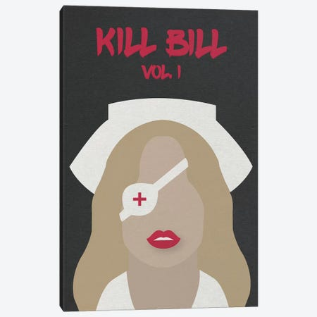 Kill Bill Vol. 1 Minimalist Poster Canvas Print #PTE40} by Popate Canvas Artwork