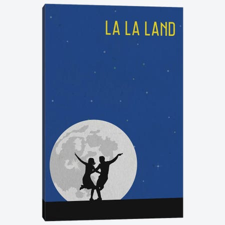 La La Land Minimalist Poster Canvas Print #PTE41} by Popate Canvas Artwork