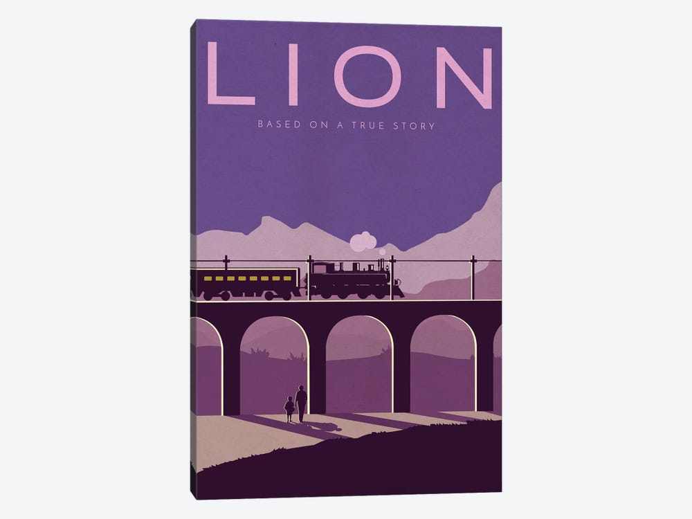 Lion Alternative Poster by Popate 1-piece Canvas Artwork