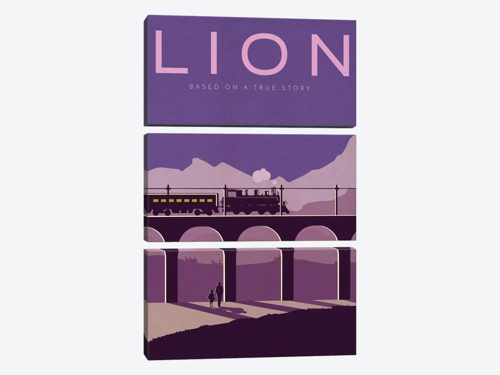 Lion Alternative Poster by Popate 3-piece Canvas Art