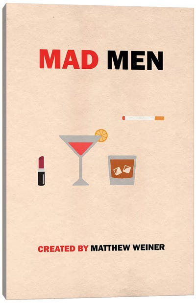 Mad Men Minimalist Poster Canvas Art Print