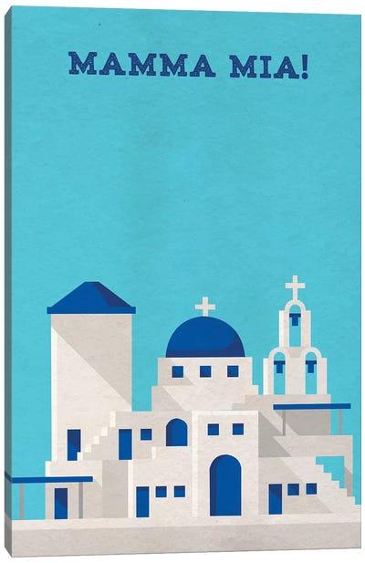 Mamma Mia! Minimalist Poster Canvas Art Print