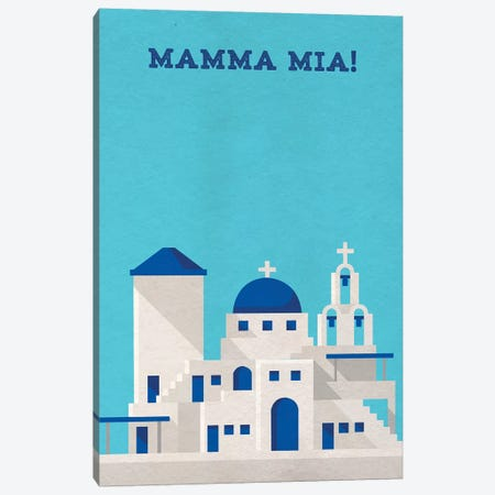 Mamma Mia! Minimalist Poster Canvas Print #PTE44} by Popate Canvas Print