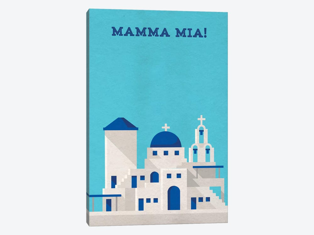Mamma Mia Minimalist Poster Canvas Art Print By Popate Icanvas
