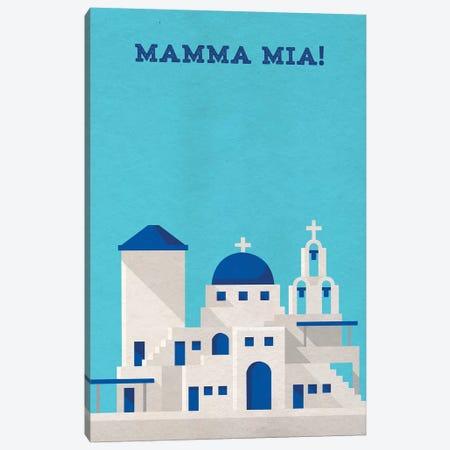 Mamma Mia! Minimalist Poster 3-Piece Canvas #PTE44} by Popate Canvas Print