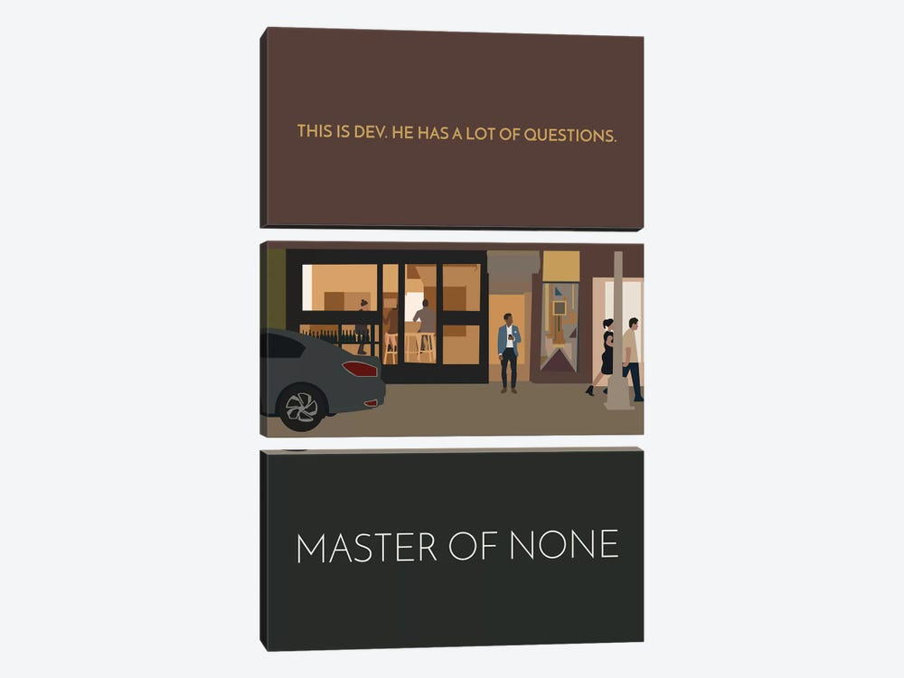 Master Of None Minimalist Poster by Popate 3-piece Canvas Art