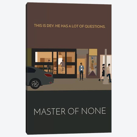 Master Of None Minimalist Poster 3-Piece Canvas #PTE46} by Popate Canvas Print