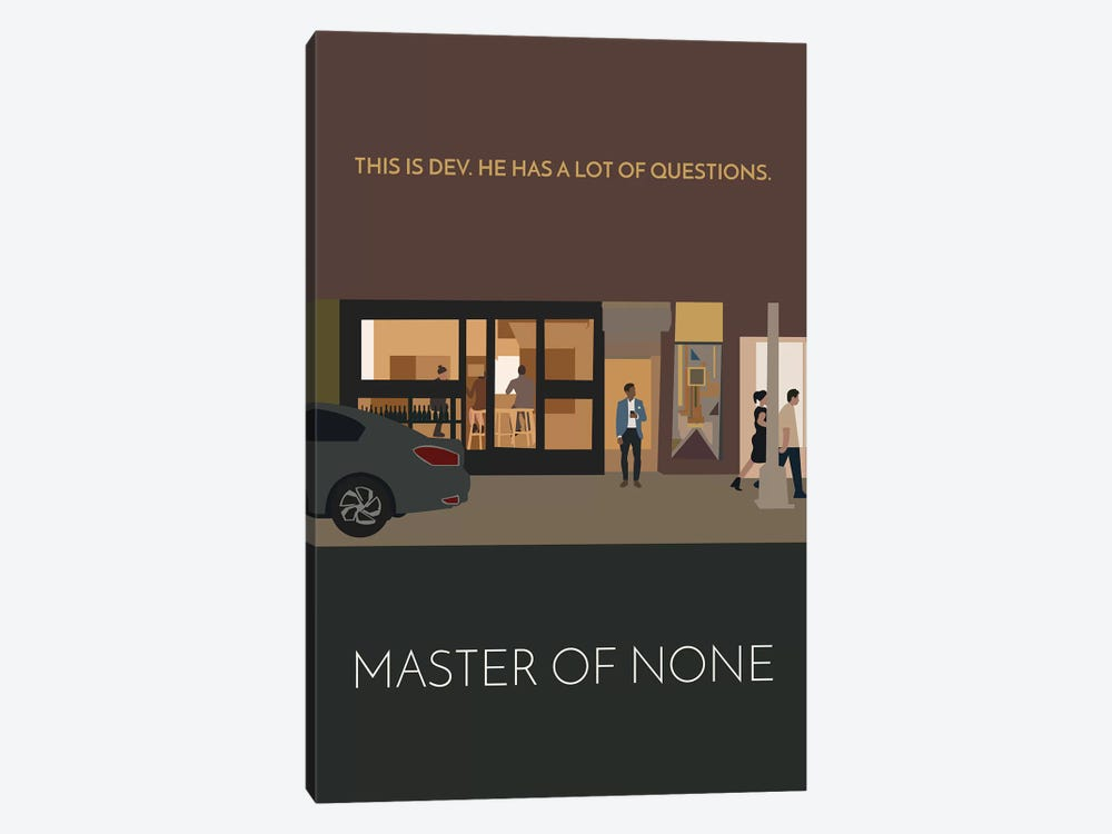 Master Of None Minimalist Poster by Popate 1-piece Canvas Wall Art