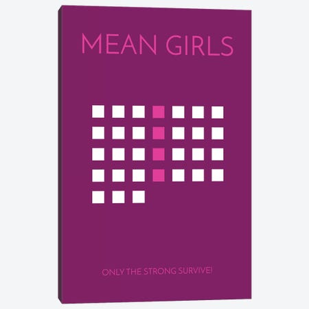 Mean Girls Minimalist Poster Canvas Print #PTE47} by Popate Art Print