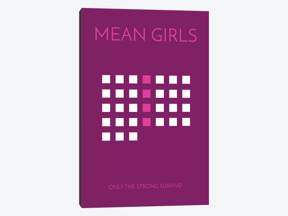 Mean Girls Minimalist Poster by Popate 1-piece Canvas Print