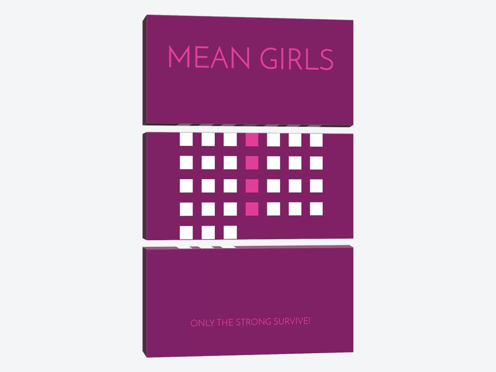 Mean Girls Minimalist Poster by Popate 3-piece Art Print