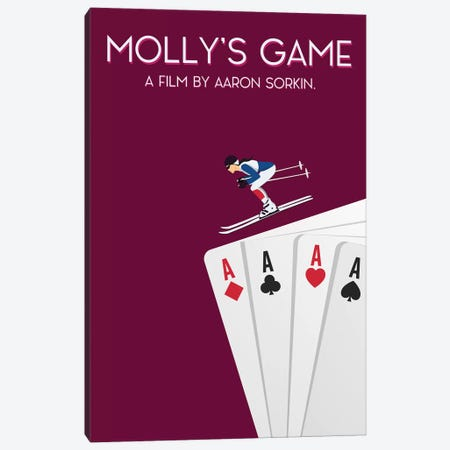 Molly's Game Minimalist Poster Canvas Print #PTE48} by Popate Canvas Art