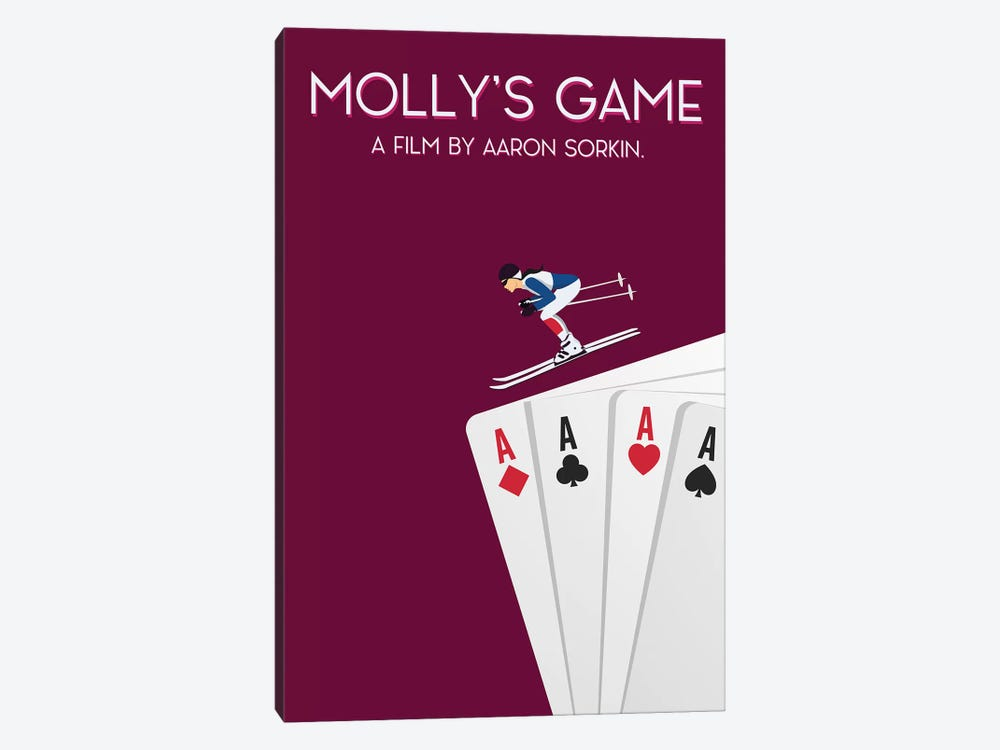 Molly's Game Minimalist Poster by Popate 1-piece Canvas Artwork