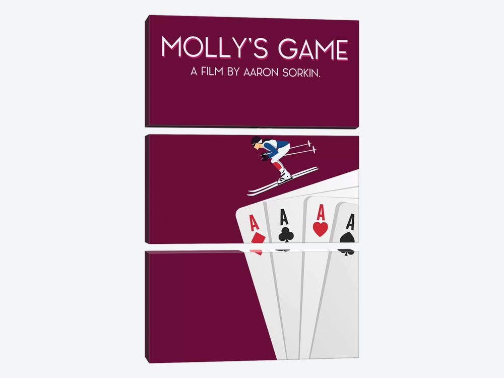 Molly's Game Minimalist Poster by Popate 3-piece Canvas Art