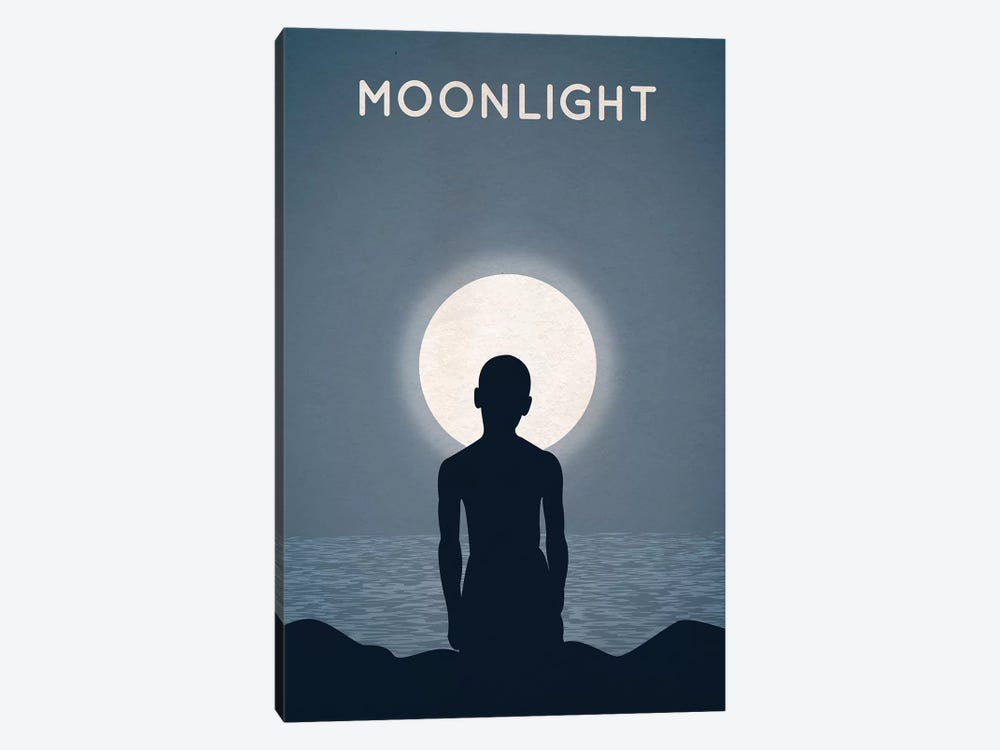 Moonlight Alternative Minimalist Poster by Popate 1-piece Art Print