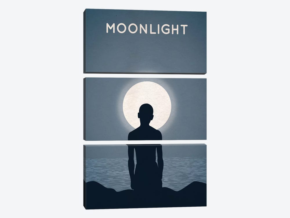 Moonlight Alternative Minimalist Poster by Popate 3-piece Art Print