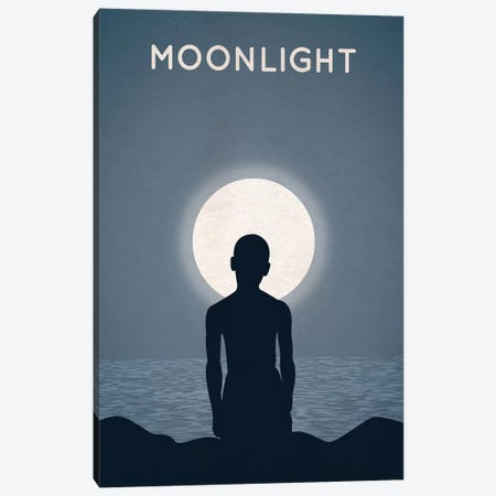 Moonlight Alternative Minimalist Poster Canvas Print #PTE49} by Popate Canvas Art