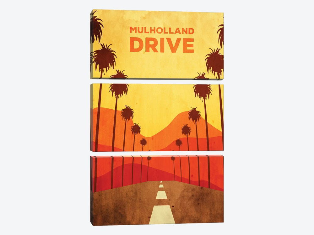 Mulholland Drive Alternative Poster by Popate 3-piece Canvas Wall Art