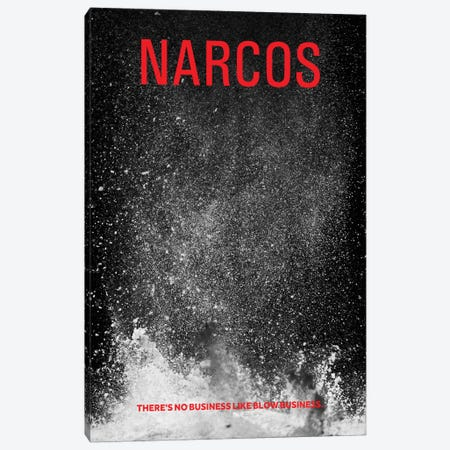 Narcos Alternative Poster 3-Piece Canvas #PTE52} by Popate Canvas Print