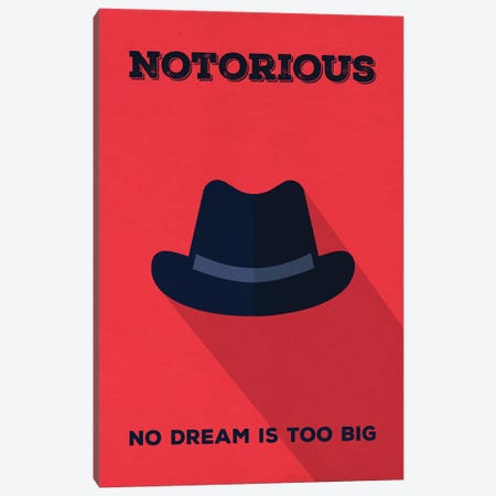 Notorious Minimalist Poster Canvas Print #PTE53} by Popate Art Print