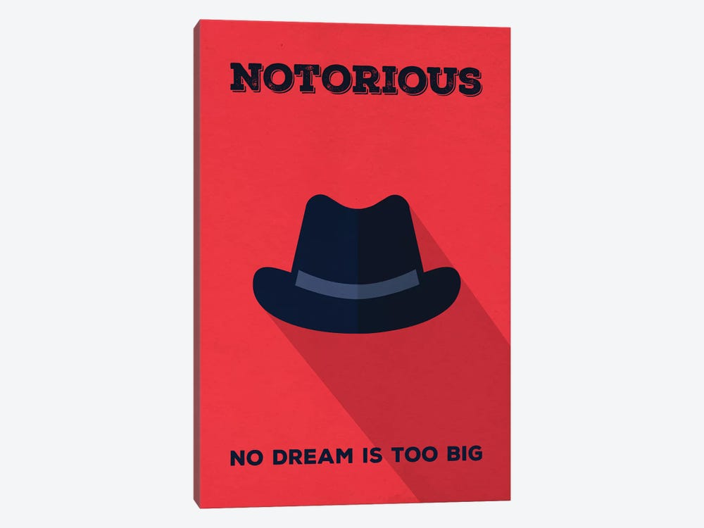 Notorious Minimalist Poster by Popate 1-piece Canvas Artwork