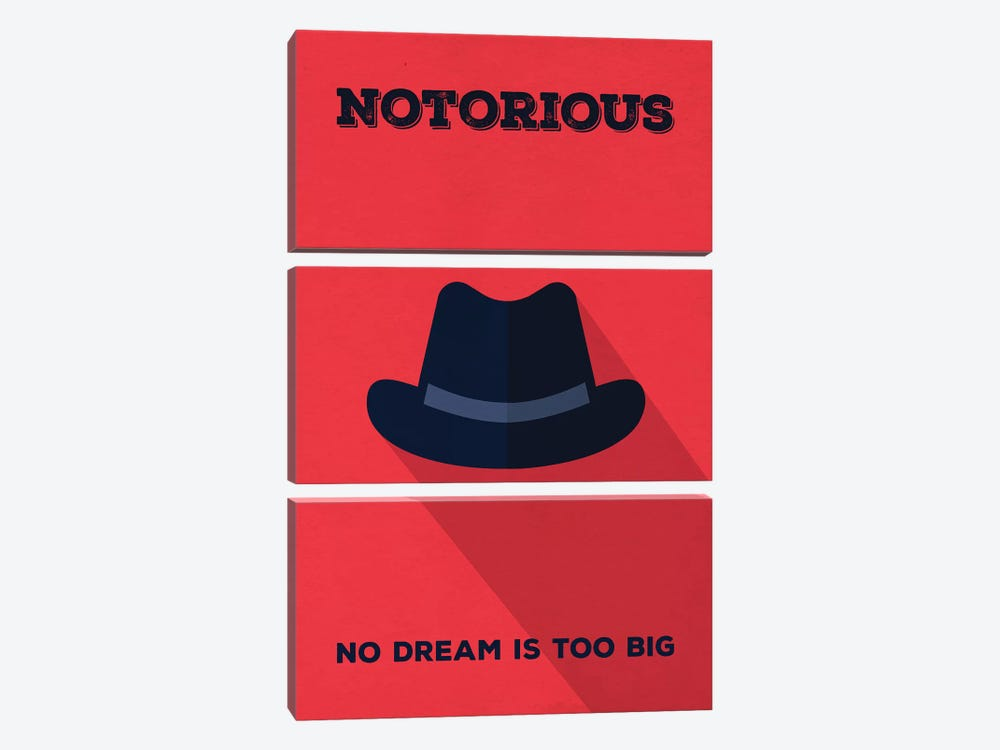 Notorious Minimalist Poster by Popate 3-piece Canvas Artwork