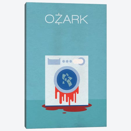 Ozark Minimalist Poster Canvas Print #PTE54} by Popate Canvas Artwork