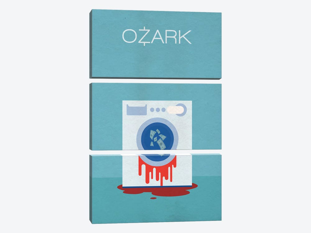 Ozark Minimalist Poster by Popate 3-piece Canvas Art Print