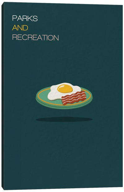 Parks And Recreation Minimalist Poster Canvas Art Print