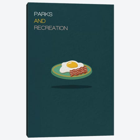Parks And Recreation Minimalist Poster 3-Piece Canvas #PTE55} by Popate Canvas Art