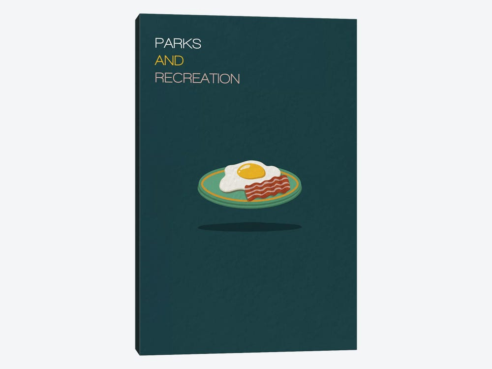 Parks And Recreation Minimalist Poster by Popate 1-piece Canvas Wall Art