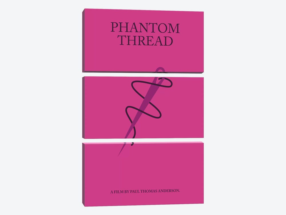 Phantom Thread Minimalist Poster 3-piece Canvas Art Print
