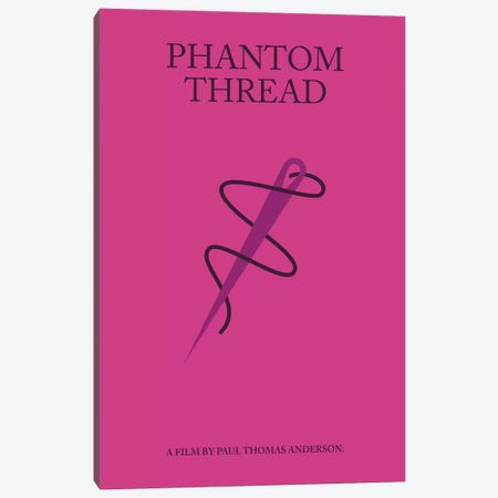 Phantom Thread Minimalist Poster Canvas Print #PTE56} by Popate Canvas Wall Art
