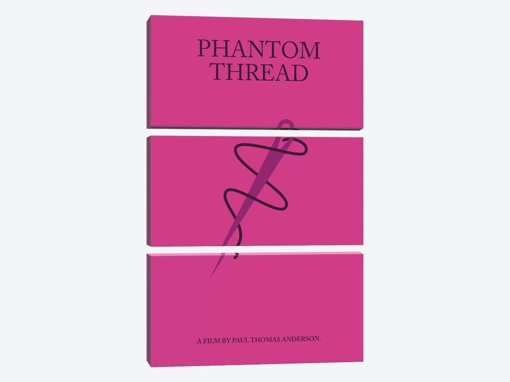 Phantom Thread Minimalist Poster by Popate 3-piece Canvas Art Print
