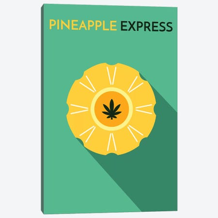 Pineapple Express Minimalist Poster Canvas Print #PTE57} by Popate Canvas Artwork