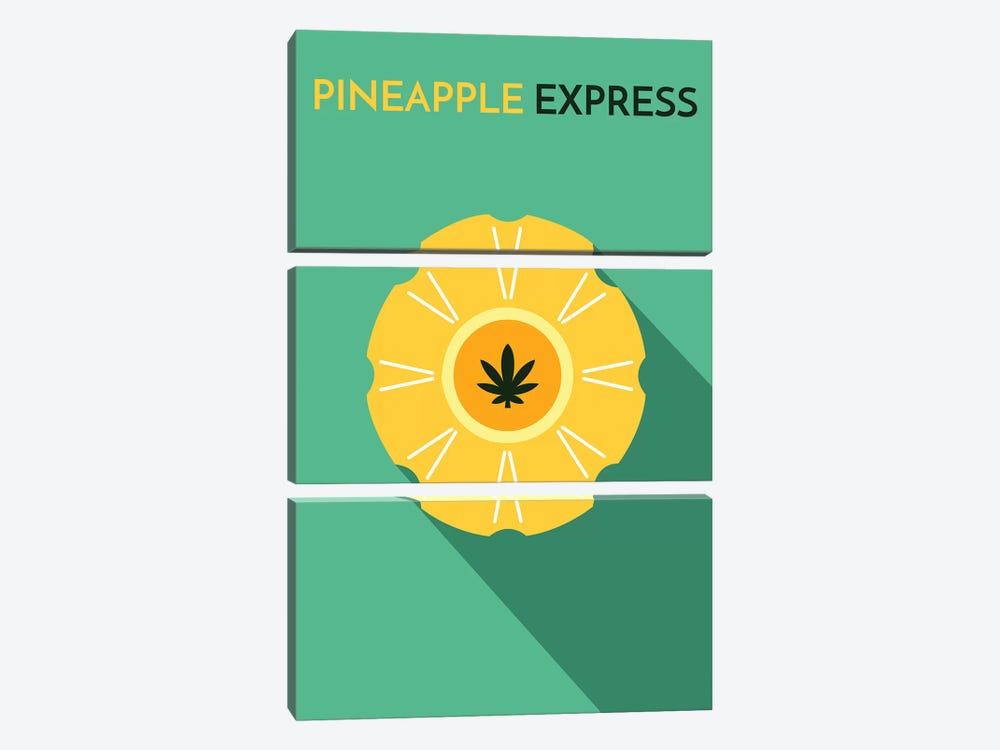 Pineapple Express Minimalist Poster by Popate 3-piece Canvas Art