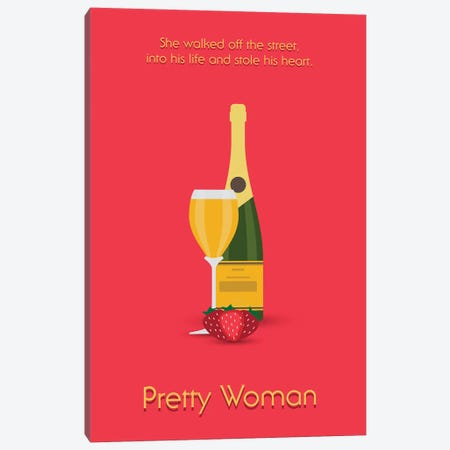 Pretty Woman Minimalist Poster Canvas Print #PTE58} by Popate Canvas Art Print