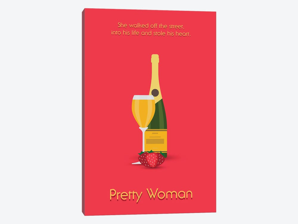 Pretty Woman Minimalist Poster by Popate 1-piece Canvas Art Print